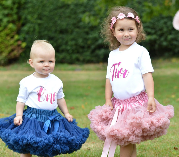 Tutu Outfit with Script Birthday Top