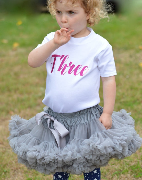 Tutu Outfit with Script Birthday Top - Cotton and Bloom