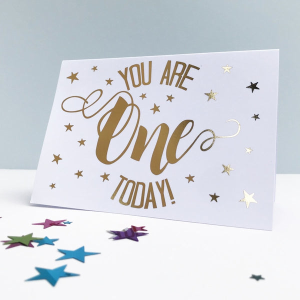 You are One Today! 1st Birthday Card - Cotton and Bloom