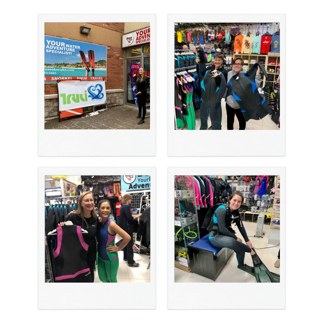Aquasub Scuba POP-up Fitting Party with Truli Wetsuits