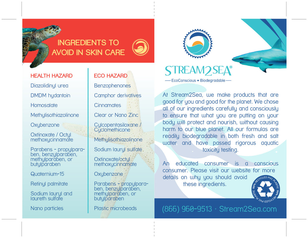 Stream2Sea Ingredients to avoid in sunscreens