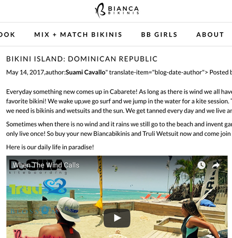 Suami Cavallo talks about living in a bikini and wetsuit in The Dominican Republic