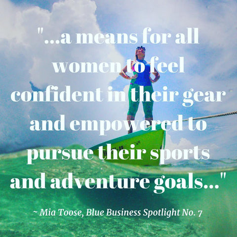 Ola'pi Creative quote from Mia Toose of Truli Wetsuits for the Blue Business Spotlight