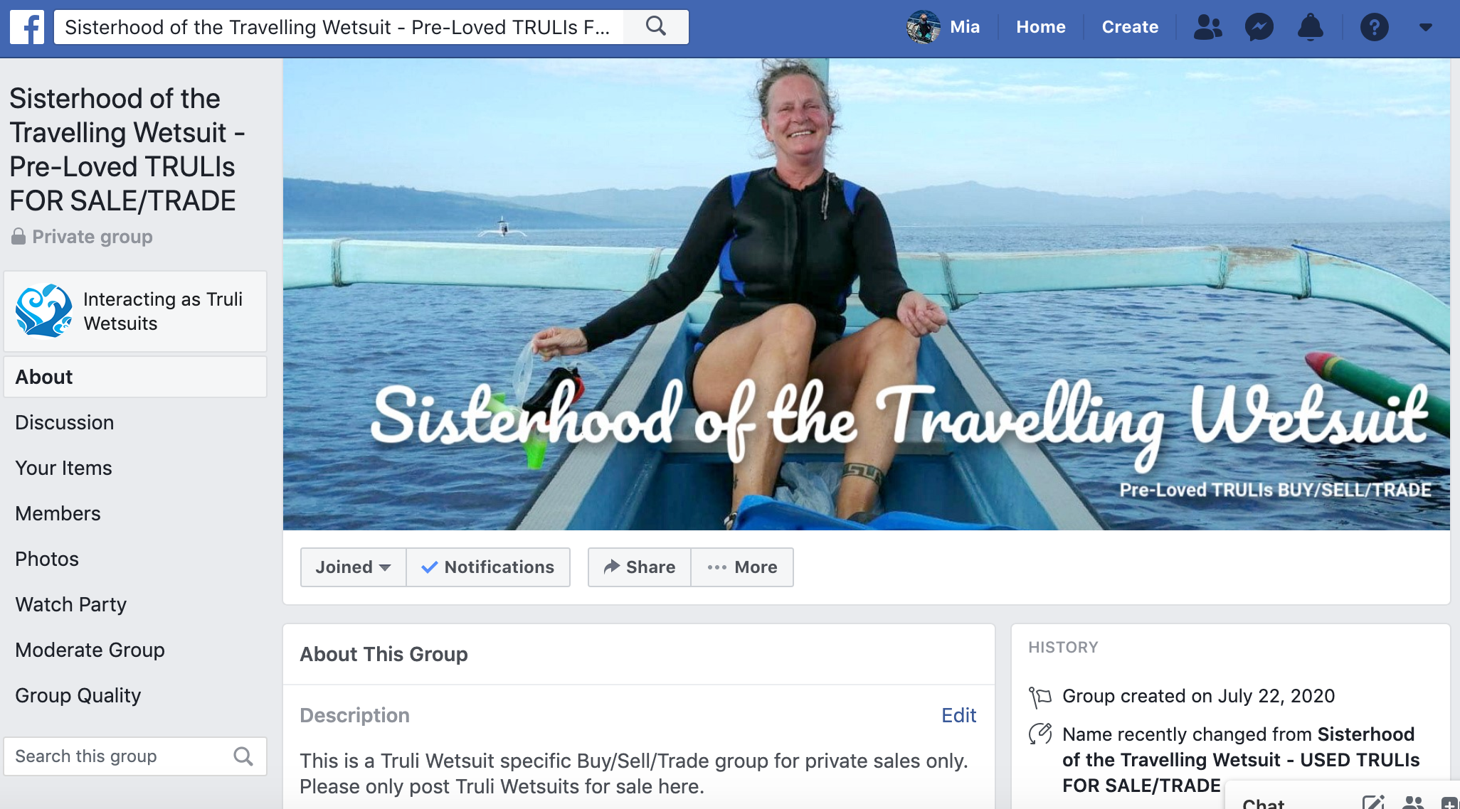 Truli Wetsuits - Buy/Sell/Trade Facebook Group