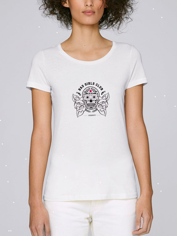 T-shirt Femme Bad girls club Blanc by [FRENCHKIFF]