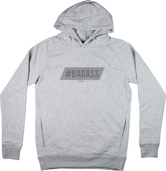 Sweat à capuche Badass Gris sport by [FRENCHKIFF]