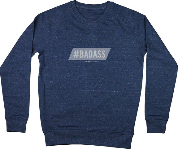 Sweatshirt Badass Bleu chiné by [FRENCHKIFF]