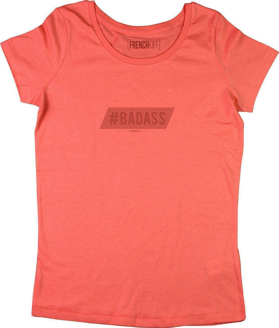 T-shirt Femme Badass Corail by [FRENCHKIFF]