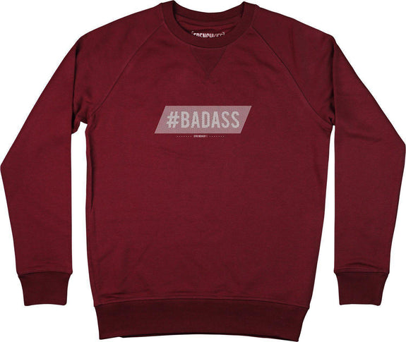 Sweatshirt Badass Bordeaux by [FRENCHKIFF]