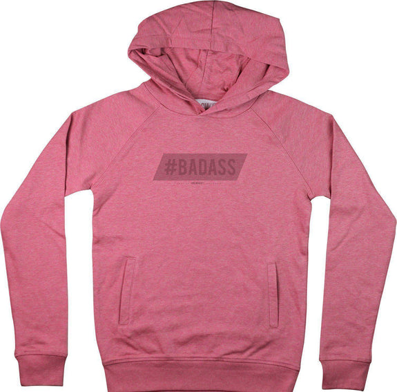 Sweat à capuche Femme Badass Rose by [FRENCHKIFF]