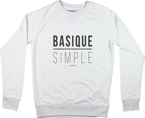 Sweatshirt Basique Simple Blanc crème by [FRENCHKIFF]
