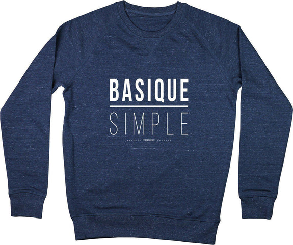 Sweatshirt Basique Simple Bleu chiné by [FRENCHKIFF]