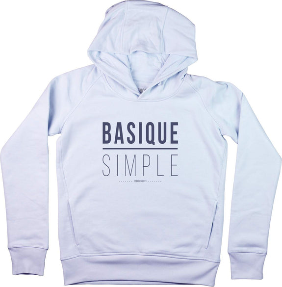 Sweat à capuche Femme Basique Simple Bleu pastel by [FRENCHKIFF]