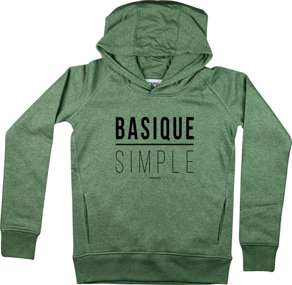 Sweat à capuche Femme Basique Simple Kaki by [FRENCHKIFF]