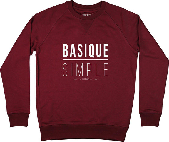 Sweatshirt Basique Simple Bordeaux by [FRENCHKIFF]