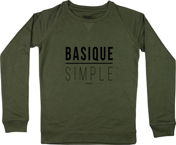 Sweatshirt Femme Basique Simple Kaki by [FRENCHKIFF]