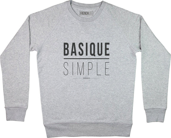 Sweatshirt Basique Simple Gris sport by [FRENCHKIFF]
