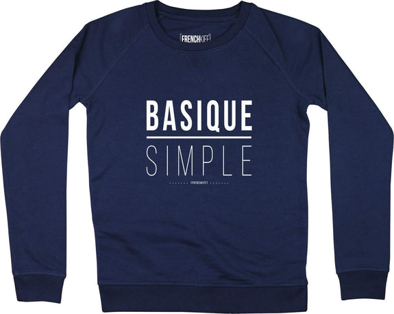 Sweatshirt Femme Basique Simple Bleu marine by [FRENCHKIFF]