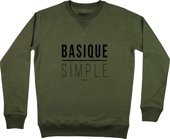 Sweatshirt Basique Simple Kaki by [FRENCHKIFF]
