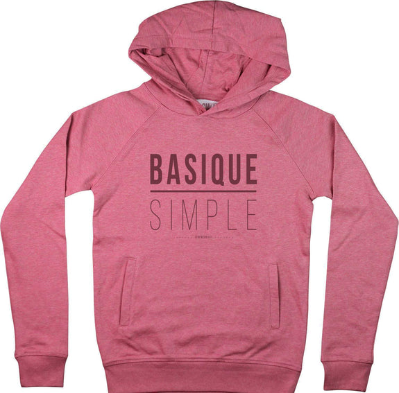 Sweat à capuche Femme Basique Simple Rose by [FRENCHKIFF]