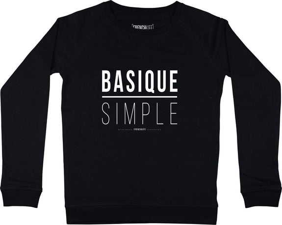 Sweatshirt Femme Basique Simple Noir by [FRENCHKIFF]