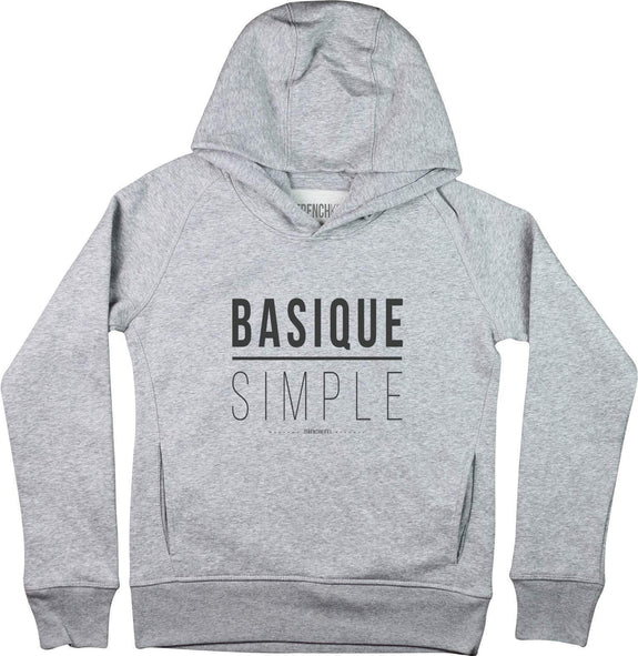 Sweat à capuche Femme Basique Simple Gris sport by [FRENCHKIFF]
