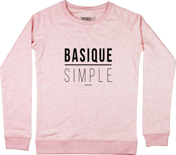Sweatshirt Femme Basique Simple Rose by [FRENCHKIFF]