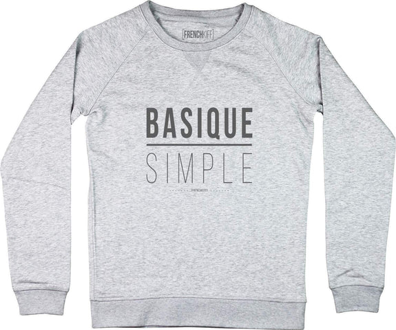 Sweatshirt Femme Basique Simple Gris sport by [FRENCHKIFF]