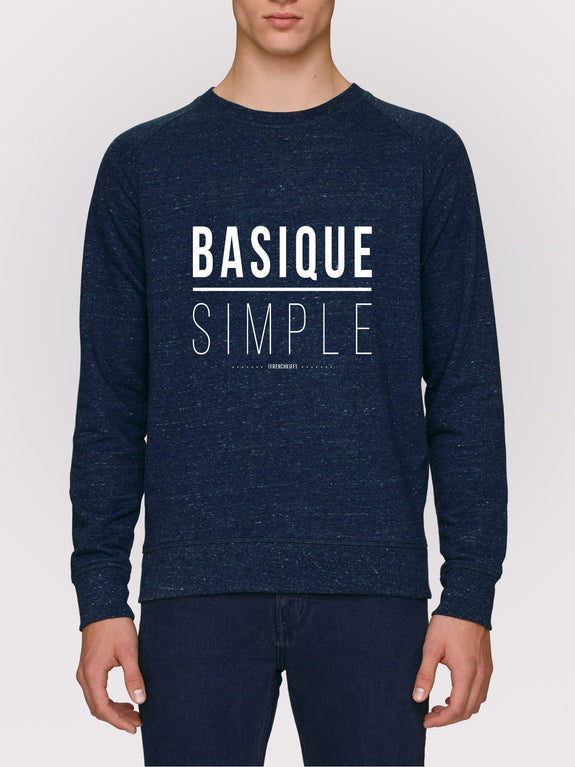 Sweatshirt Basique Simple Bleu marine by [FRENCHKIFF]