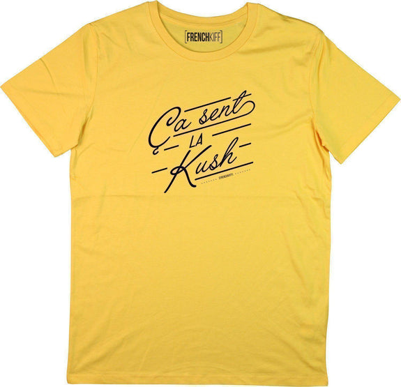 T-shirt Ca sent la kush Jaune moutarde by [FRENCHKIFF]