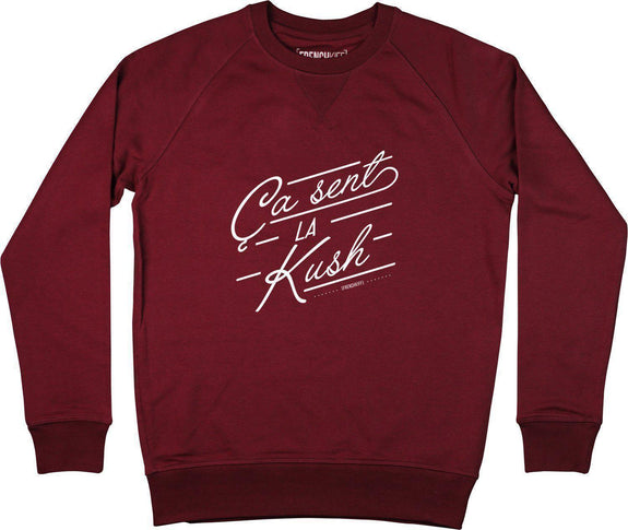 Sweatshirt Ca sent la kush Bordeaux by [FRENCHKIFF]
