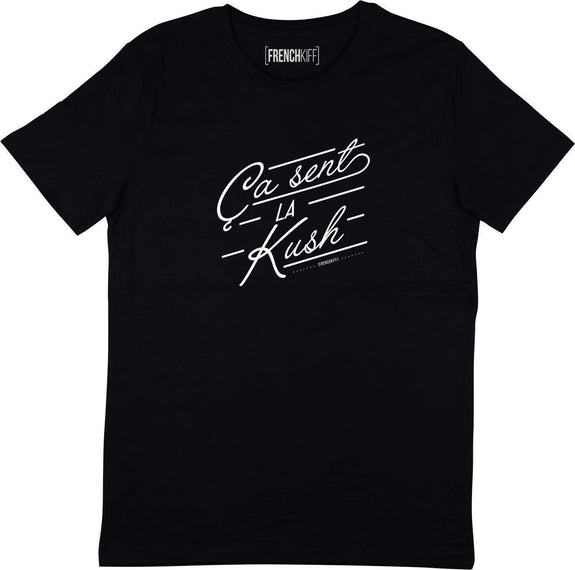 T-shirt Ca sent la kush Noir by [FRENCHKIFF]