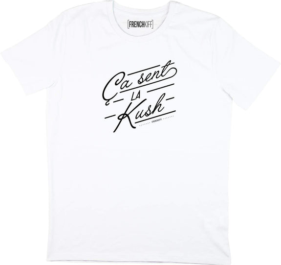 T-shirt Ca sent la kush Blanc by [FRENCHKIFF]