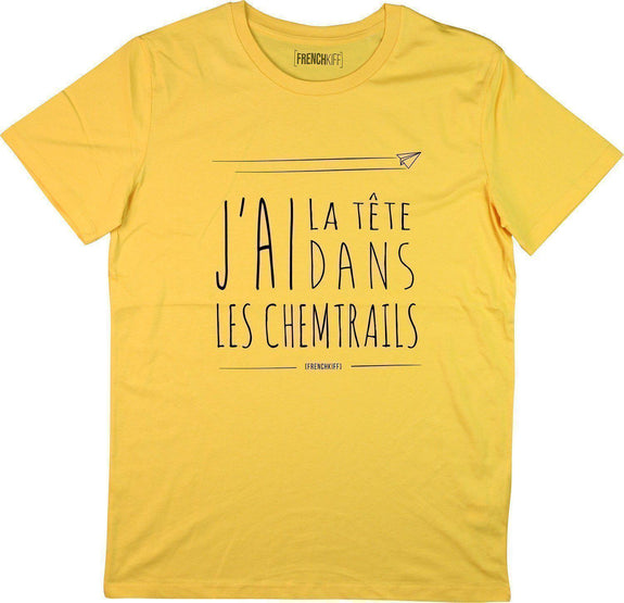 T-shirt Chemtrails Jaune moutarde by [FRENCHKIFF]