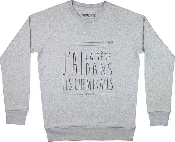 Sweatshirt Chemtrails Gris sport by [FRENCHKIFF]