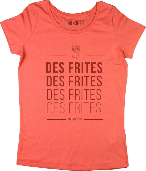 T-shirt Femme Des frites Corail by [FRENCHKIFF]