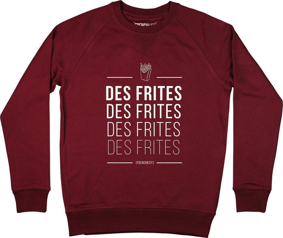 Sweatshirt Des frites Bordeaux by [FRENCHKIFF]