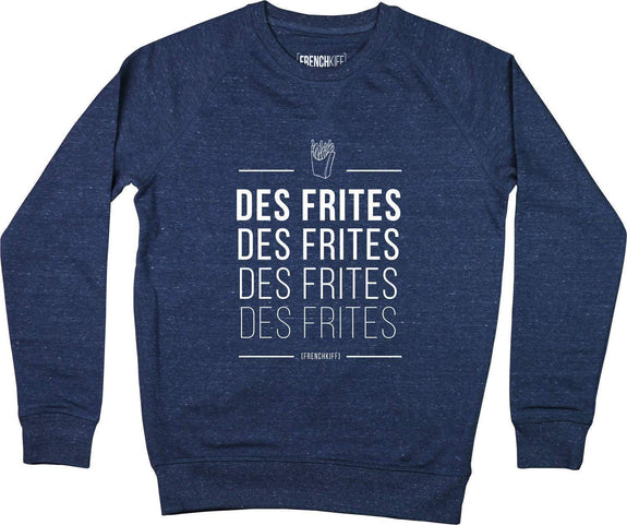 Sweatshirt Des frites Bleu chiné by [FRENCHKIFF]