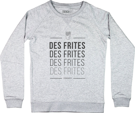 Sweatshirt Femme Des frites Gris sport by [FRENCHKIFF]