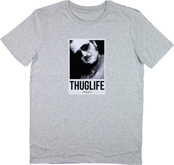 T-shirt Dikkenek Claudy Thuglife Gris sport by [FRENCHKIFF]