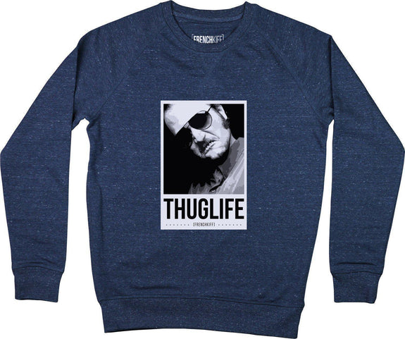 Sweatshirt Dikkenek Claudy Thuglife Bleu chiné by [FRENCHKIFF]