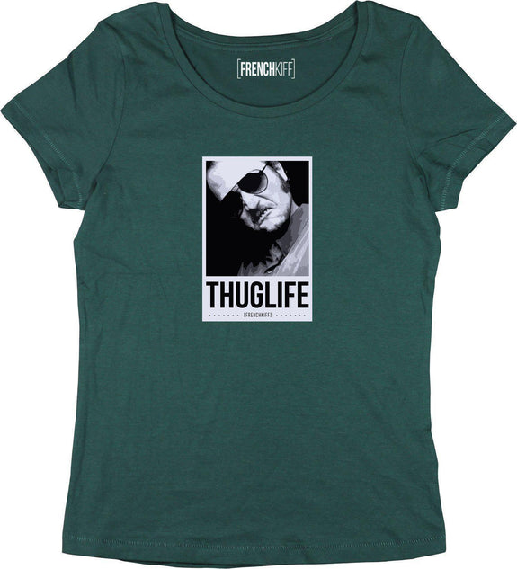 T-shirt Femme Dikkenek Claudy Thuglife Vert bouteille by [FRENCHKIFF]