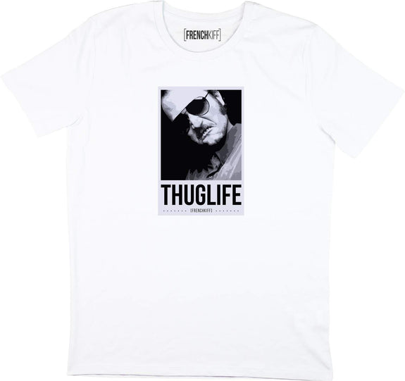 T-shirt Dikkenek Claudy Thuglife Blanc by [FRENCHKIFF]