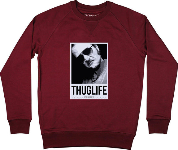 Sweatshirt Dikkenek Claudy Thuglife Bordeaux by [FRENCHKIFF]