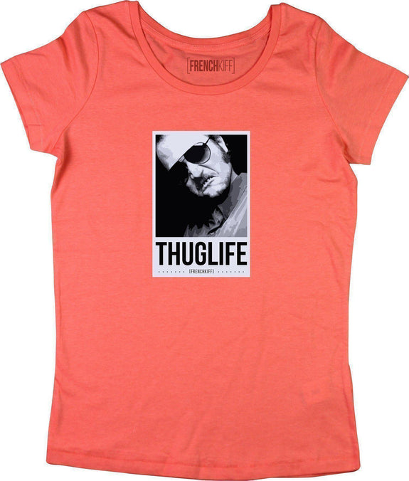 T-shirt Femme Dikkenek Claudy Thuglife Corail by [FRENCHKIFF]