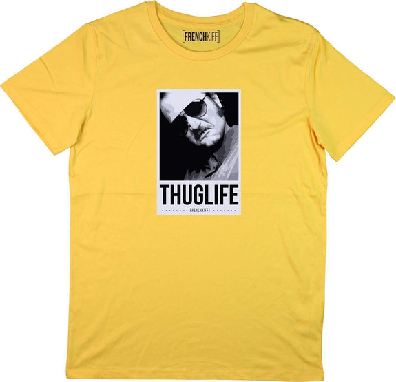 T-shirt Dikkenek Claudy Thuglife Jaune moutarde by [FRENCHKIFF]