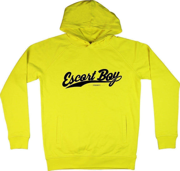 Sweat à capuche Escort boy Jaune by [FRENCHKIFF]