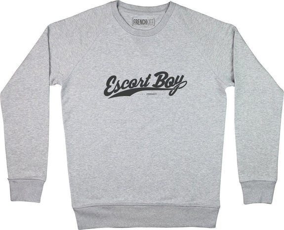 Sweatshirt Escort boy Gris sport by [FRENCHKIFF]