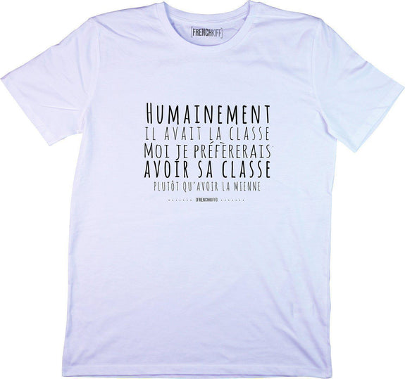 T-shirt Humainement il avait la classe Bleu pastel by [FRENCHKIFF]