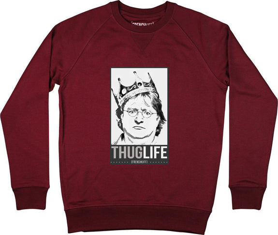 Sweatshirt King Gabe Newell Bleu marine by [FRENCHKIFF]